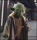 Jedi Master Yoda doesn't look too happy about it...