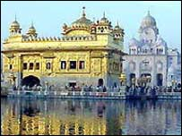 The Golden Temple, one of the most important Sikh shrines