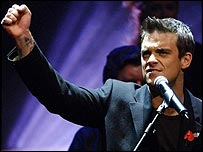 Robbie Williams is in the music Hall of Fame