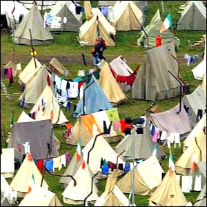 Tents close-up