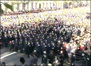 Crowd at Remembrance Sunday