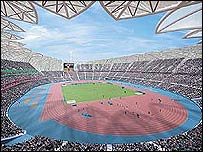 London' planned athletics stadium