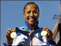 Kelly Holmes won two Olympic golds at the 2004 games in Athens