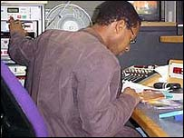 Lizo working in an edit suite
