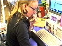 Researching in the Newsround office