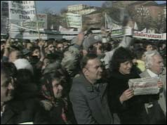 Protesters in Sofia