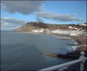 David Hogan snapped this view of Aberystwyth and Constitution Hill