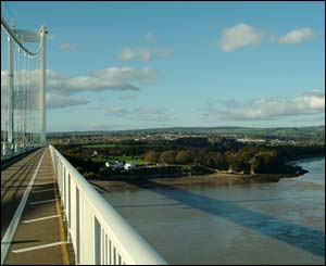 John Page took this photograph walking across the Second Severn Crossing into Wales