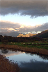 Royston Jones, from Abergynolwyn, captured this panoramic view with Cader Idris in the background