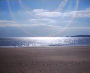 Chris Buckley from Swansea took this shot across Swansea Bay towards Mumbles on the day his son's birth was registered