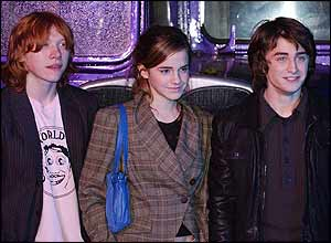 And sure enough - Dan, Rupert and Emma emerge from the vehicle...