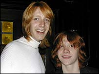 Oliver Phelps and Rupert Grint