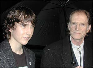 Matt Lewis (Neville Longbottom) did his interviews with Filch actor David Bradley