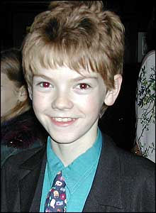 Thomas Sangster - star of Love Actually and Featherboy! turned up for the party