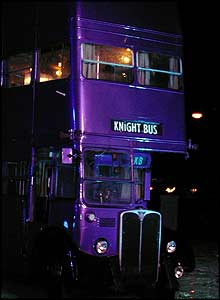 The Knight Bus - the world's only purple, triple-decker bus!