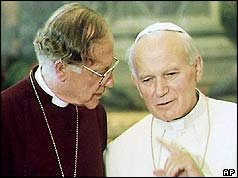 Archbishop Runcie and Pope John Paul II