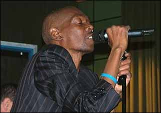 Maxi Jazz from Faithless made sure he was wearing his at a Radio 1 session recently