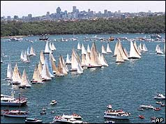 Yachts in Sydney harbour