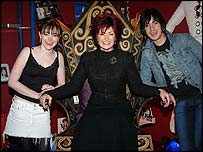 Sharon Osbourne with X Factor contestants