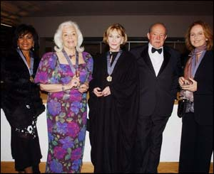 Singers Dame Shirley Bassey and Dame Gwyneth Jones, actress Sian Phillips, composer Alun Hoddinott and actor Richard Burton were honoured at the event. Richard Burton's daughter Kate Burton (right) at