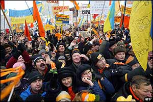 Yushchenko supporters in Kiev