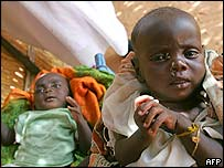 Children at a Save the Children camp in Darfur, Sudan