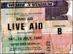 Live Aid ticket