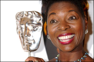 Floella Benjamin with her award