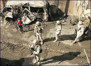 US troops at scene of car bomb attack