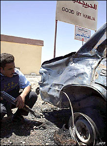 Car destroyed by Hawija bomb attacks