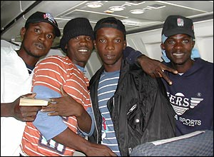 Here are Ice, a Ghanaian band the team met on a plane. They promised they'd mention them!