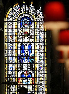 Stained glass window at St Paul's Cathedral