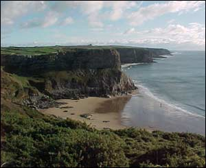 This photo of Fall Bay in the Gower was sent in by Ian Jenkins