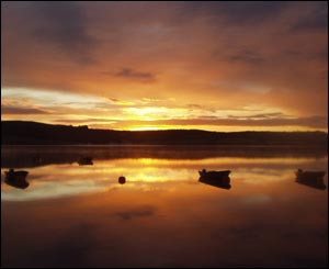 Sunrise at Llyn Brenig, near Cerrigydrudion, north Wales, by Eddie Parsons