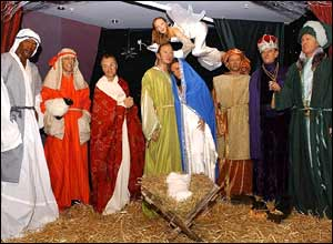 The celebrity nativity at Madame Tussauds