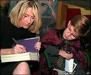 Harry Potter author JK Rowling at a book signing