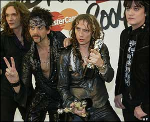 The Darkness at the Brit Awards in February
