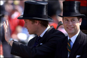 Prince William waves at the crowds. Having finished his degree, he'll soon be jetting off to New Zealand to cheer on the British and Irish Lions