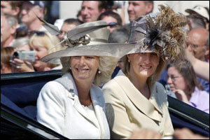 Prince Charles' new wife, Camilla, the Duchess of Cornwall, was among many Royal family members at the event