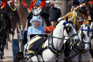 Trooping The Colour is a military parade held to mark the monarch's