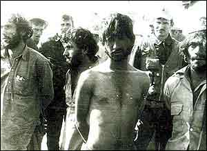 Captured mujahideen at Asadabad, 1987 (photo courtesy of afghanwar.spb.ru)