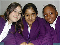 Amy, Shahika and Tracy were inspired by Gemma Fox to write their own rap lyrics about Fair Trade