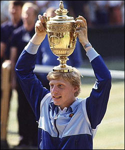 German Boris Becker was just 17 when he lifted the trophy in 1985