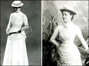 The first Wimbledon championships were held in 1877. These women played in the first ladies' final in 1884