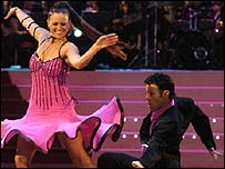She took the title with dance partner Darren Bennet