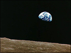 Earthrise photo taken by Apollo 8 astronauts