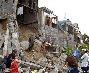 Viviendas destruidas en Iquique