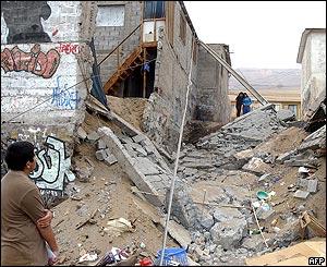 Casas destruidas en Iquique