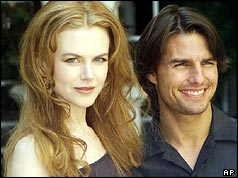 Tom Cruise and Nicole Kidman at the premiere of Eyes Wide Shut in 1999