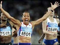 Team GB's Kelly Holmes wins gold in the 800 metres during the 2004 Olympic Games in Athens
